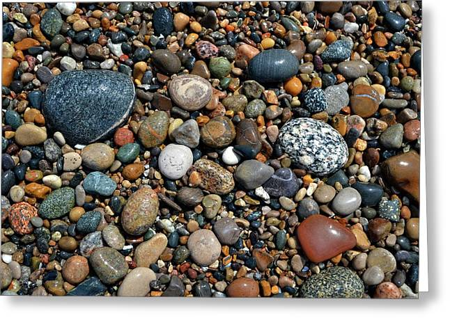 Greeting Card featuring the photograph Lake Michigan Stone Collection by Michelle Calkins