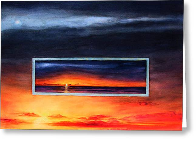 Lake Michigan Sunrise Greeting Card by Nancy  Ethiel