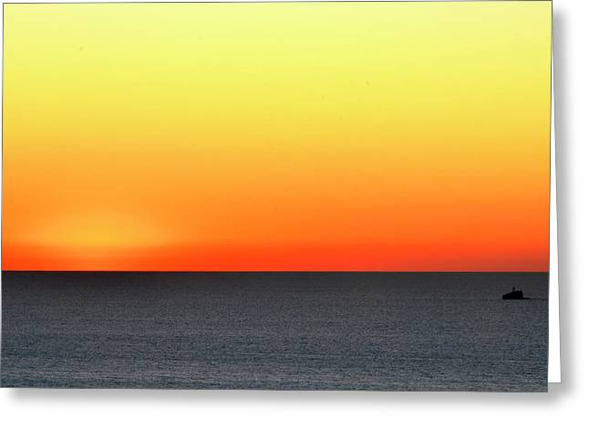 Greeting Card featuring the photograph Lake Michigan Sunrise by Zawhaus Photography