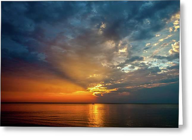Lake Michigan Sunset Greeting Card
