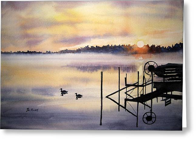 Lake Mist Greeting Card by Shirley Braithwaite Hunt
