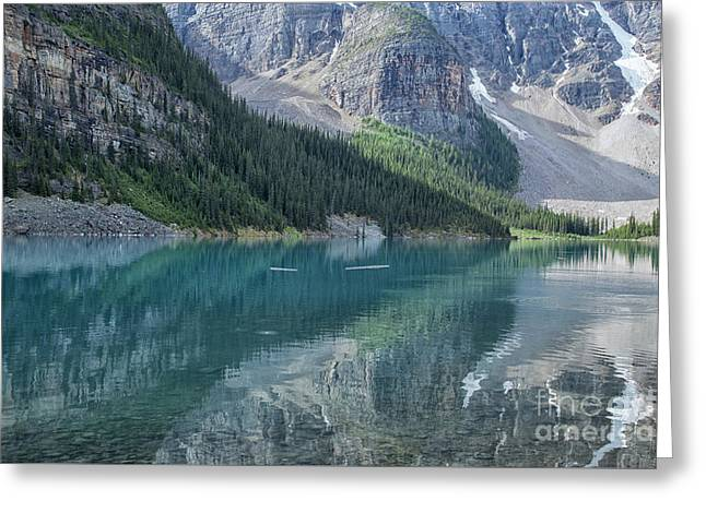 Greeting Card featuring the photograph Lake Moraine by Patricia Hofmeester