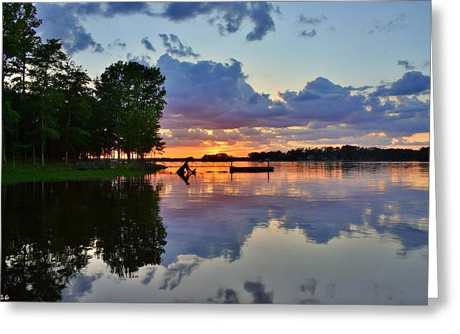 Lake Murray Sc Reflections Greeting Card