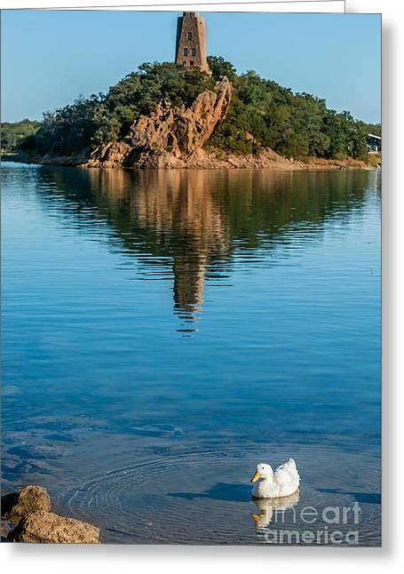 Lake Murray's White Duck Greeting Card