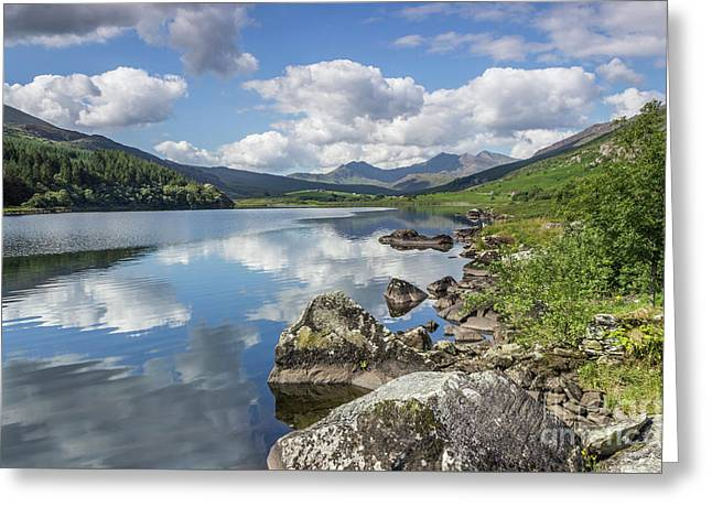 Greeting Card featuring the photograph Lake Mymbyr And Snowdon by Ian Mitchell