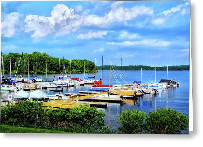 Lake Nockamixon Marina Greeting Card