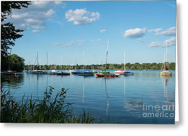 Lake Nokomis Minneapolis City Of Lakes Greeting Card