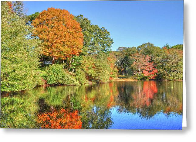 Lake Noquochoke, Dartmouth, Ma Greeting Card
