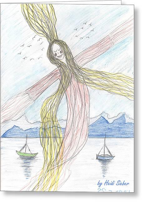 Lake Nymph Rising Greeting Card