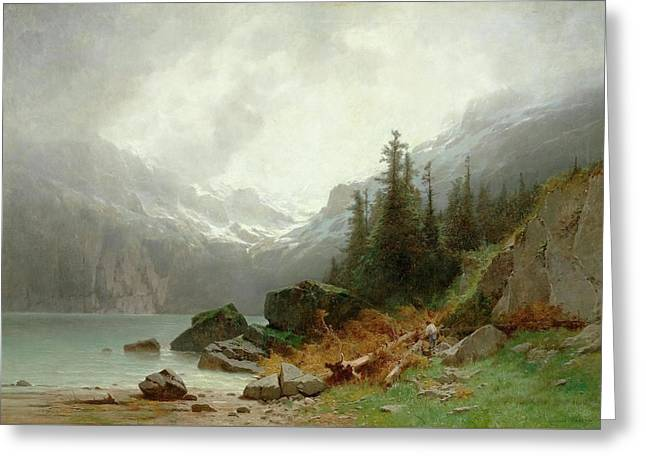 Lake Oeschinen Greeting Card