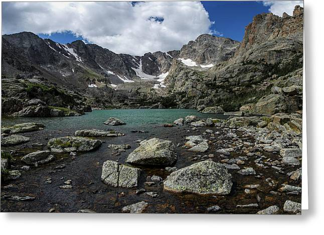 Lake Of Glass Greeting Card by Aaron Spong