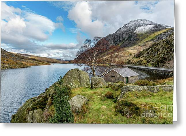 Lake Ogwen And Tryfan Mountain Greeting Card