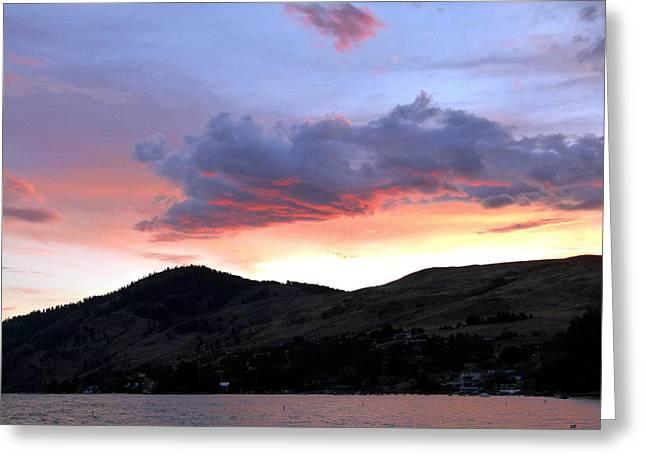 Lake Okanagan Sunset Greeting Card by Will Borden