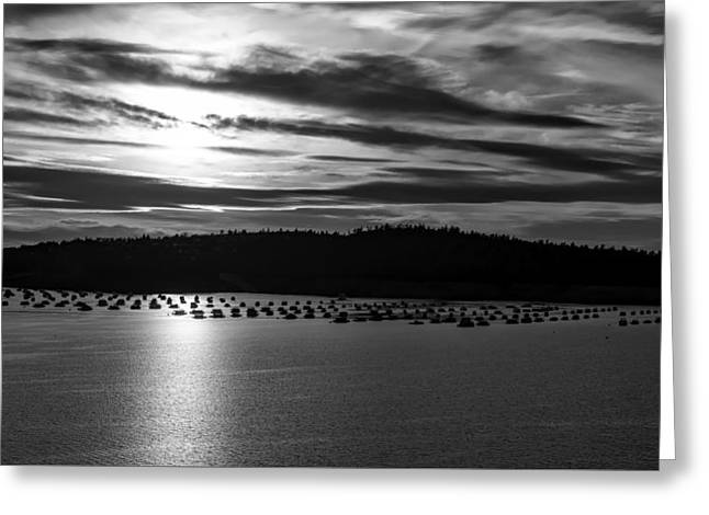 Lake Oroville At Dusk Greeting Card by Mountain Dreams