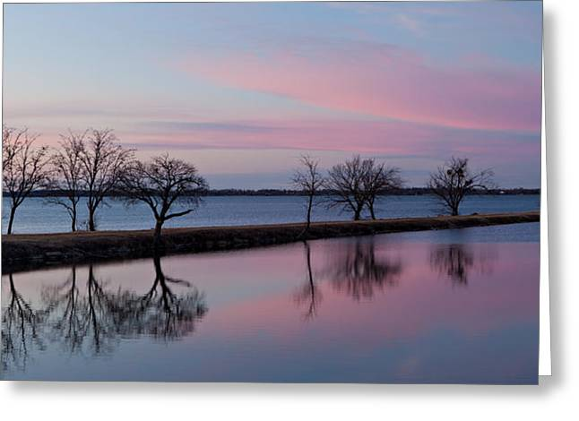 Lake Overholser Sunset Greeting Card