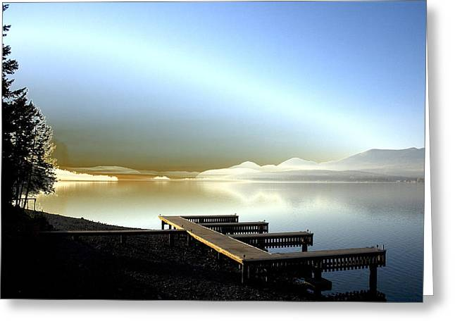 Lake Pend D'oreille Fantasy Greeting Card