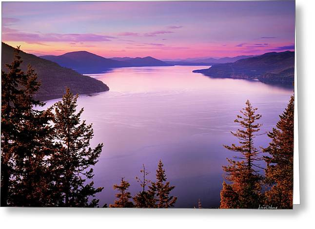 Lake Pend Oreille 2 Greeting Card by Leland D Howard