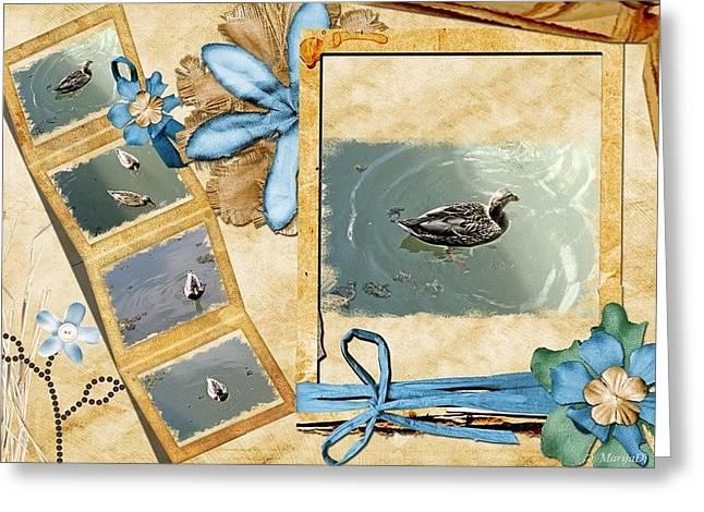 Lake Postcard Greeting Card by Marija Djedovic
