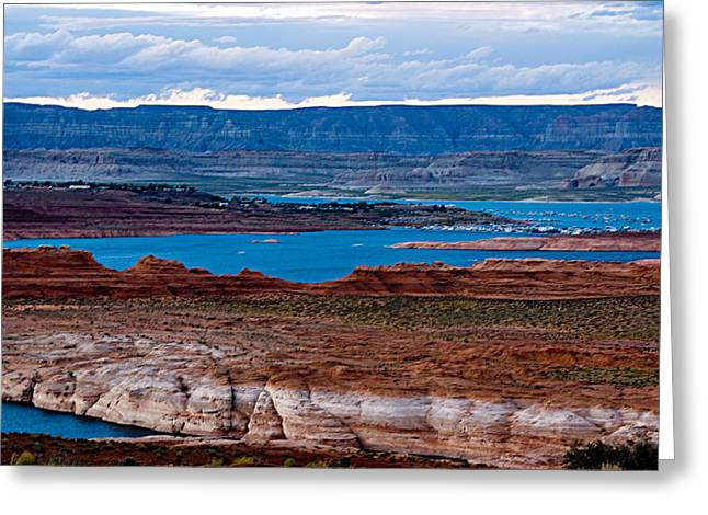 Lake Powell Greeting Card by Larry Gohl