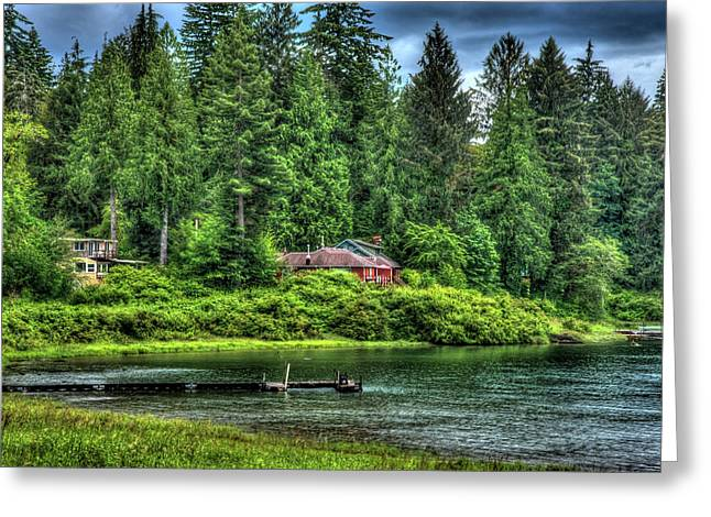 Lake Quinault 3 Greeting Card by Richard J Cassato