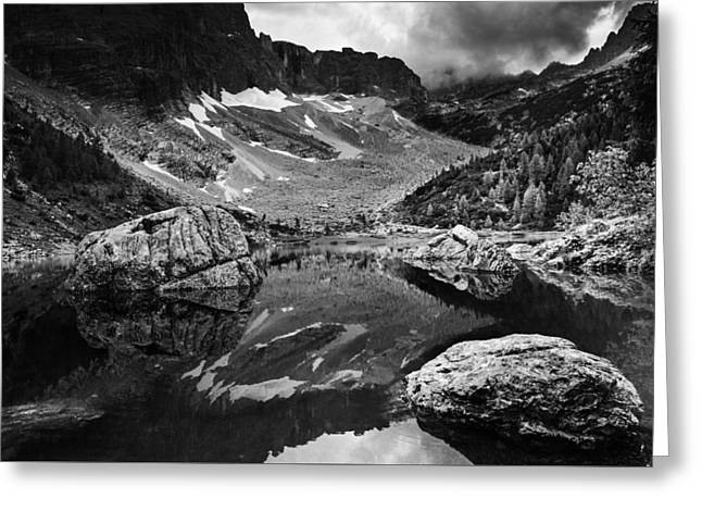 Greeting Card featuring the photograph Lake Reflections by Yuri Santin