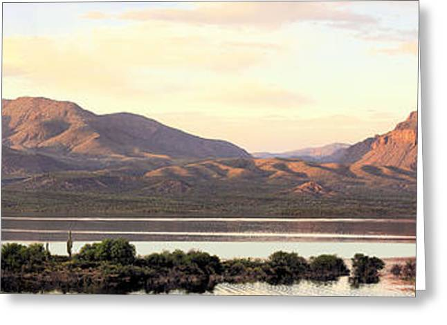Lake Roosevelt Greeting Card by Sharon Broucek