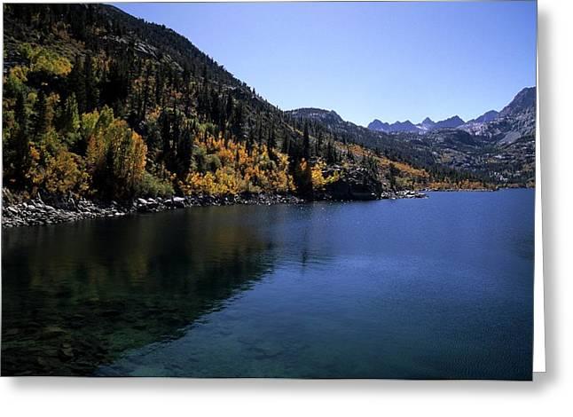 Lake Sabrina Fall Color Greeting Card by Don Kreuter