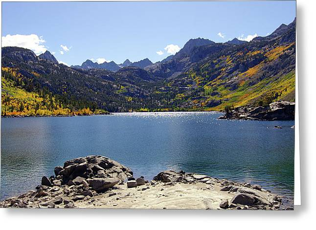 Lake Sabrina In Fall Colors Greeting Card