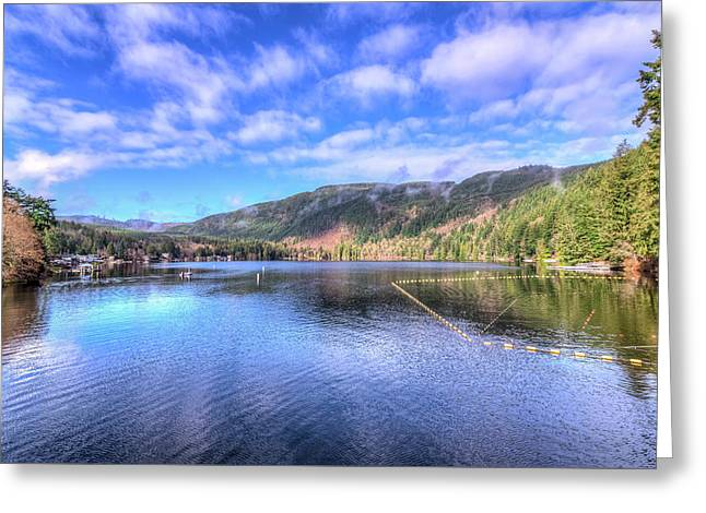 Lake Samish Greeting Card by Spencer McDonald