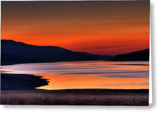 Lake Sherburne Greeting Card by Mark Kiver