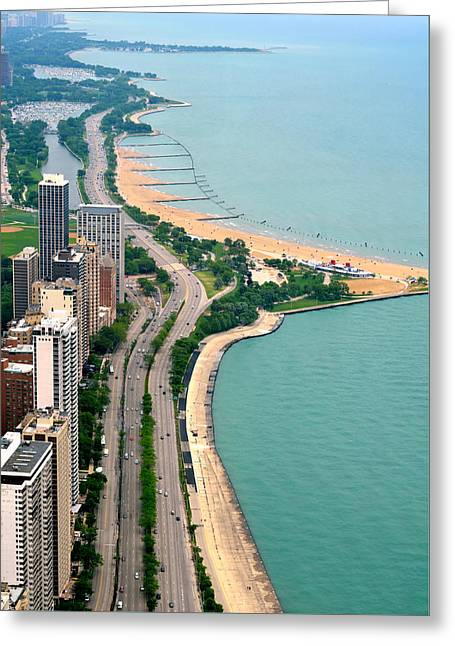 Lake Shore Dr . Chicago Greeting Card