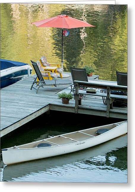 Lake-side Dock Greeting Card