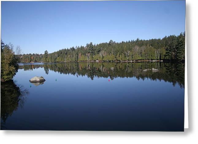 Lake Side View Greeting Card by Kate  Leikin
