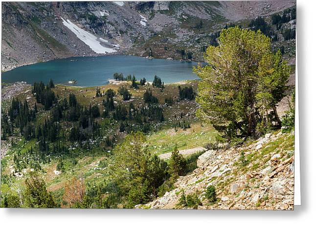 Lake Solitude Greeting Card by Mike Cavaroc