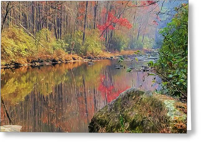 Greeting Card featuring the painting Chattooga Paradise by Steven Richardson