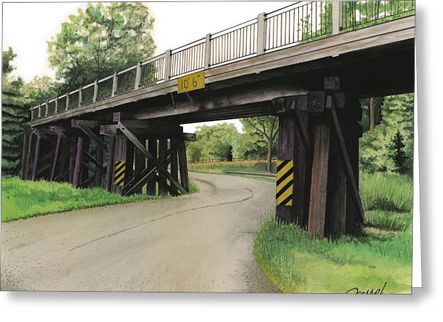 Lake St. Rr Overpass Greeting Card