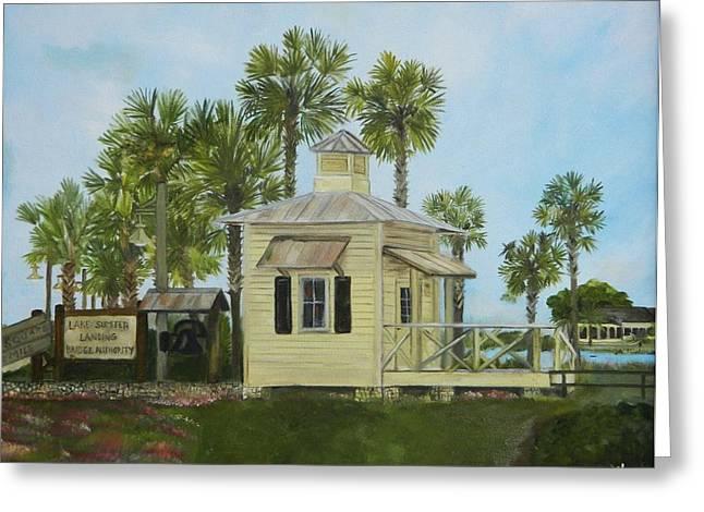Florida Bridge Paintings Greeting Cards - Lake Sumter Bridge Authority Greeting Card by Deb Hassinger