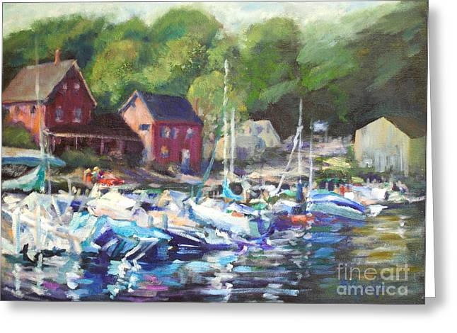 Lake Sunapee Harbor Greeting Card