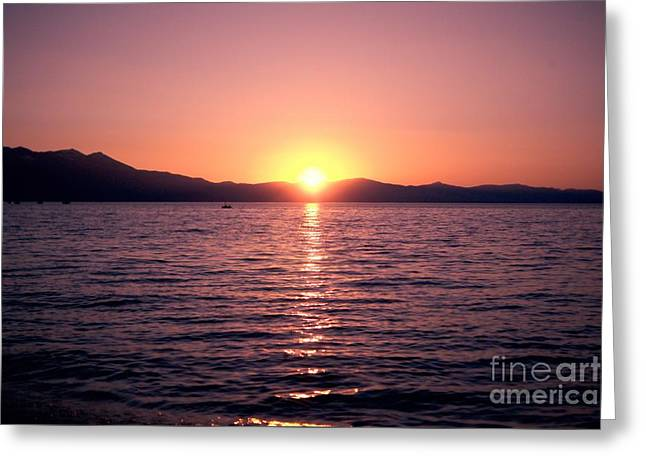 Lake Sunset 8pm Greeting Card