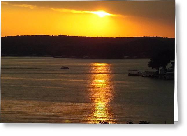 Lake Sunset  Greeting Card by Don Koester