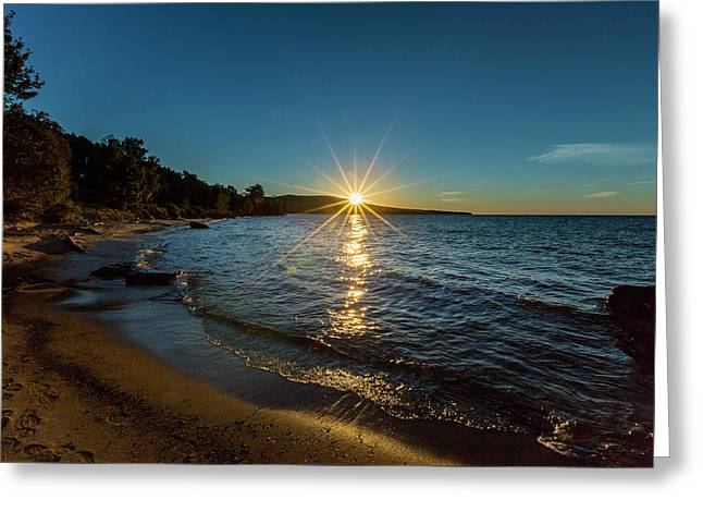 Lake Sunset Greeting Card by Jack R Perry