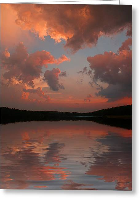 Greeting Card featuring the photograph Lake Sunset by Rick Friedle