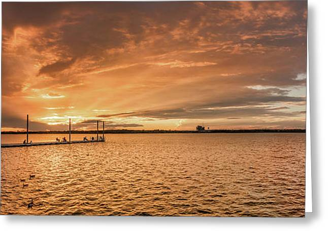 Greeting Card featuring the photograph Lake Sunset by Robert Bellomy