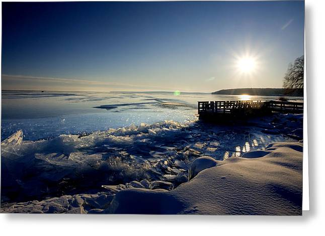 Lake Superior In Winter Greeting Card