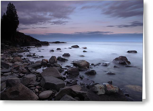 Lake Superior Shore Greeting Card by Eric Foltz