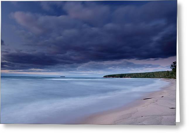Lake Superior Shoreline Greeting Card by Eric Foltz