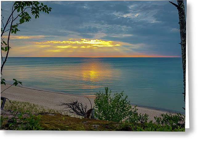 Lake Superior Sunset Greeting Card