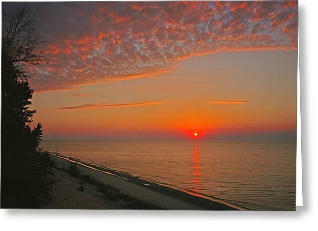 Lake Superior Sunset Greeting Card