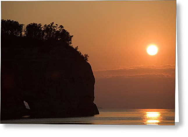 Lake Superior Sunset Greeting Card by Sebastian Musial