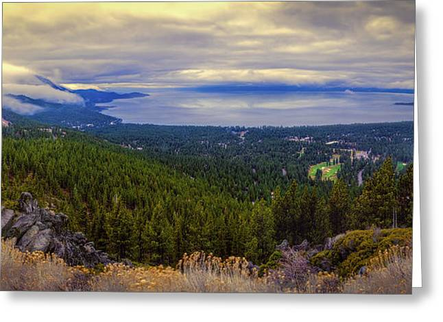 Lake Tahoe And Incline Village Greeting Card by Maria Coulson